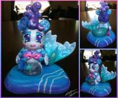 Vinylmation 3'' Bubbly Mermaid Custom by StephanieCassataArt