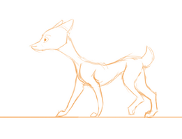 Walk Cycle WIP by GemFeathers