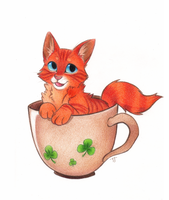 Teacup Kitty by Phoelion