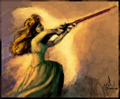 The Rifle Lady by Sycil