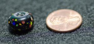 Rainbow Dots on Black (Bead) by SabrinaFranek