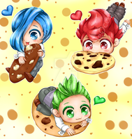 Chibi Sanyou cookies by LittleOcean