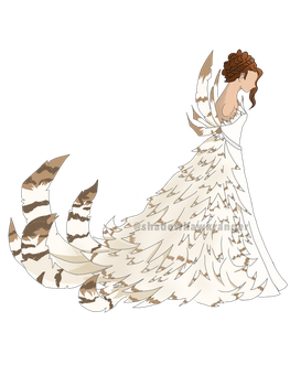 Owl Feathered Dress by ShadowHawkRanger