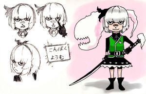 Ohai, new style Youmu by Tres-Iques