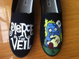 Pierce The Veil Shoes by Imsarahx