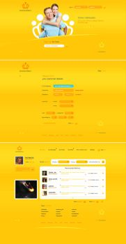 GoldenDate Website by coldfinch