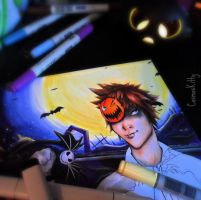 Halloween Sora -WIP- by CosmosKitty