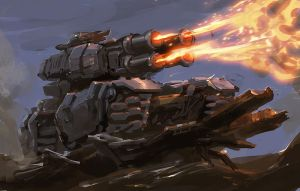 Flamethrower tank 30min by rawwad