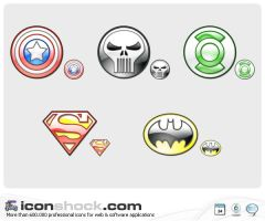 Heroes Logos by Iconshock