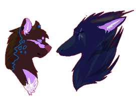 Line-les headshot commission for starr-the-wolfcat by N-i-s-h-ka