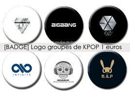 BADGES LOGO OF GROUPE KPOP [1 EUROS] by Suki-Poulpe