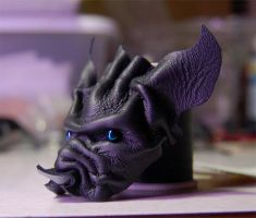 miniature leather bat head 1 by MidnightZodiac