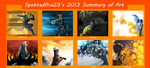 2013 art summary so far by Spottedfire23