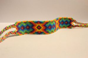 rainbow diamonds friendship bracelet by fbraceletfreak