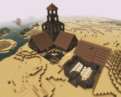 Minecraft - Age of Empires Town center, Barracks by adiyasa