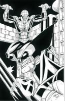 Spider-Man and Wolverine Inked by CliffEngland