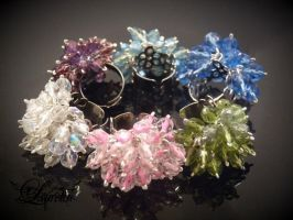 Sparkly tinkling rings :) by Laurelis