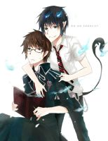 Ao no exorcist : Brothers2 by noonkano
