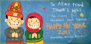 nu year greeting from aceh by dunki-sabri