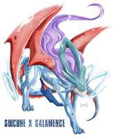 Suicune X Salamence by Seoxys6