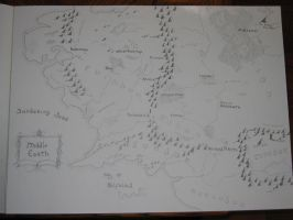 LotR map comission by bunnygirl16