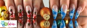 Painted christmas nails by Ambima