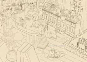 WIP:Howls Moving Castle by Moondrophime