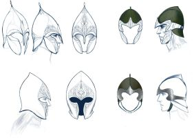 Helmets of Elves by meneldil-elda
