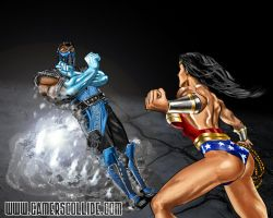 Sub-Zero vs Wonder Woman by osx-mkx