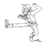 Edward Elric Lineart by ProSonic
