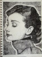 Stipple-Audrey Hepburn by Some-Imagination