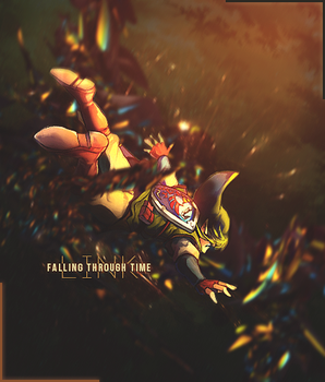 Link - Falling Through Time by Jeav9