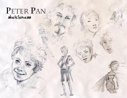 Peter Pan 2003 sketchiness by Pika-la-Cynique