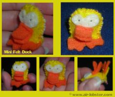 Tiny Felt Duck by airlobster