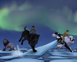 Watch Out Back There! - Ice Floe Flat Race by Cougar28