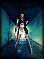 Horror in the subway by X9Photography