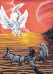 pegasus and thestral by tronnie