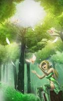 Forest Elf by Blueberry-Cat