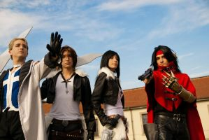 Seifer, Squall, Female Squall and Vincent by DocSkavenger