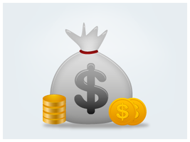 Coins Icon by customicondesign