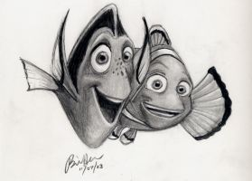 Dory and Marlin by bosstones22 by ThePixarClub