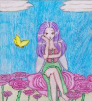 Fairy with flowers by MissRiku