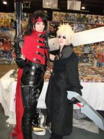 2012 MCM Telford Expo Pic Vincent and Cloud by RoxasTsuna