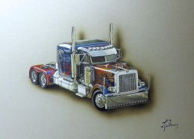 optimus prime truck by personnedali