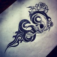 Tribal skull by Noodough