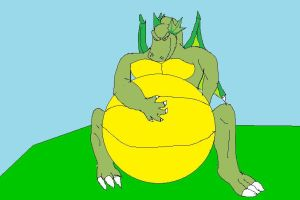 Draco inflating by DracoRex1890