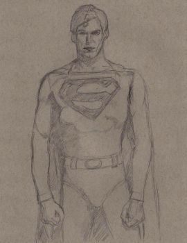 Christopher Reeve as Superman WIP by Gossamer1970
