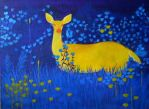 Yellow Doe by elizile