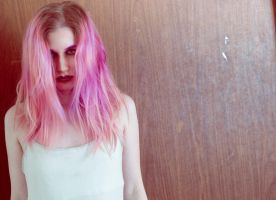 Pink hair 7 by Sinned-angel-stock