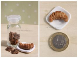 Croissants - Clay Miniature by thinkpastel